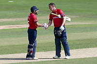 Ravi Bopara of Essex congratulates Daniel Lawrence (R) on reaching his century during Essex Eagles vs Kent Spitfires, Royal London One-Day Cup Cricket at The Cloudfm County Ground on 6th June 2018