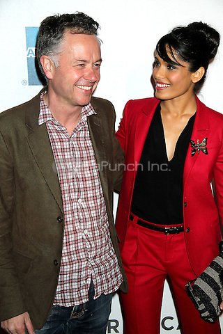 April 27, 2012 Director Michael Winterbottom and Frieda Pinto attend the premiere of Trishna during the 2012 Tribeca Film Festival at the BMCC/TPAC in New York City. Credit: RW/MediaPunch Inc.