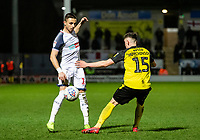 Bolton Wanderers' Anthony Georgiou competing with Burton Albion's Reece Hutchinson (right) <br /> <br /> Photographer Andrew Kearns/CameraSport<br /> <br /> The Premier League - Leicester City v Aston Villa - Monday 9th March 2020 - King Power Stadium - Leicester<br /> <br /> World Copyright © 2020 CameraSport. All rights reserved. 43 Linden Ave. Countesthorpe. Leicester. England. LE8 5PG - Tel: +44 (0) 116 277 4147 - admin@camerasport.com - www.camerasport.com