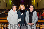 Trish McEnery, Gretta Murphy and Liz Nolan at the piano recital with Young Choon Park in the Franciscan Friary.