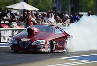 Jun. 15, 2012; Bristol, TN, USA: NHRA pro stock driver Warren Johnson during qualifying for the Thunder Valley Nationals at Bristol Dragway. Mandatory Credit: Mark J. Rebilas-
