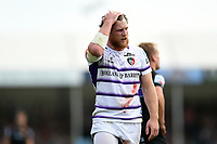 Brendon O'Connor of Leicester Tigers looks dejected. Gallagher Premiership match, between Exeter Chiefs and Leicester Tigers on September 1, 2018 at Sandy Park in Exeter, England. Photo by: Patrick Khachfe / JMP
