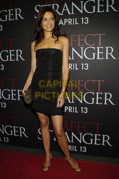 "DANIELLA VAN GRAAS .Columbia Pictures and Revolution Studios premiere of ""Perfect Stranger"" at Ziegfield Theater, New York, New York, USA..April 10th, 2007.full length dress black strapless gold shoes purse bag clutch .CAP/ADM/BL.©Bill Lyons/AdMedia/Capital Pictures *** Local Caption ***"