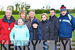 Enjoying themselves at the Castleisland Coursing meeting in Cahills Park, Castleisland on Sunday was l-r: Graham, Caroline, Lucy, David Thompson, Michael Kelleher, Myra Reidy, Michael Kelleher Jnr and Don Kelleher   Copyright Kerry's Eye 2008