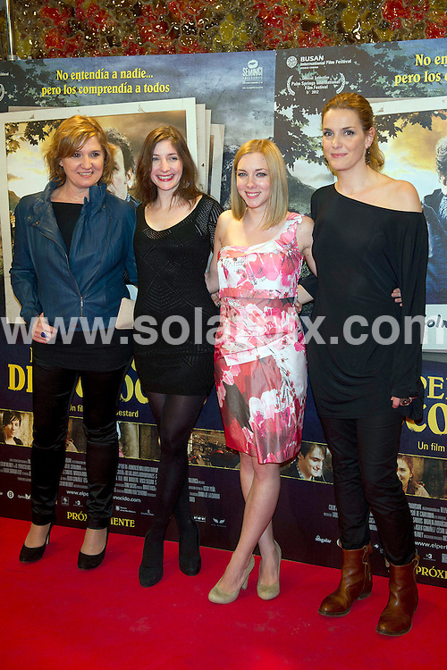 **ALL ROUND PICTURES FROM SOLARPIX.COM**                                             **WORLDWIDE SYNDICATION RIGHTS EXCEPT SPAIN - NO SYNDICATION IN SPAIN**                                                                                  Caption:  Film premier for the Perfect Stranger at the Palafox Cinema in Madrid Spain                                                                            This pic: L: Ana Wagener,  Kate Burdette, NAtalia Rodriguez and Eva Martin.                                                                                             JOB REF:14588        DMS /Drake      DATE:20.03.2012                                                            **MUST CREDIT SOLARPIX.COM OR DOUBLE FEE WILL BE CHARGED**                                                                      **MUST AGREE FEE BEFORE ONLINE USAGE**                               **CALL US ON: +34 952 811 768 or LOW RATE FROM UK 0844 617 7637**