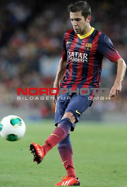 FC Barcelona's Jordi Alba during Supercup of Spain 2nd match.August 28,2013. Foto © nph / Acero)