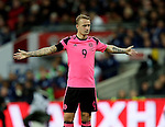 Leigh Griffiths of Scotland seems to be asking whats going on during the FIFA World Cup Qualifying Group F match at Wembley Stadium, London. Picture date: November 11th, 2016. Pic David Klein/Sportimage