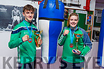 Barry O'Connor (Killorglin) and Kori Goad (Abbeyfeale) who won silver wear at the resent European Junior Boxing Championships in Russia.