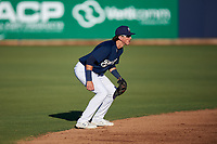 AZL Brewers Blue shortstop Cam Devanney (2) during an Arizona League game against the AZL Athletics Gold on July 2, 2019 at American Family Fields of Phoenix in Phoenix, Arizona. AZL Athletics Gold defeated the AZL Brewers Blue 11-8. (Zachary Lucy/Four Seam Images)
