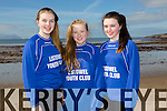 At the North Kerry's KDYS 'fittest Club'  Challenge at Ballyheigue beach  on Saturday were  Laura Twomey, Chantelle Blackburn, Alanna Horgan from Listowel youthclub