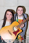 Orla Keane Ballymac left and Alsún Ní Ghiolla Mhairtin Spa who represented Kerry in Solo Singing and Recitation respectively at the Scor na nOg Munster semi finals in Millstreet on Sunday