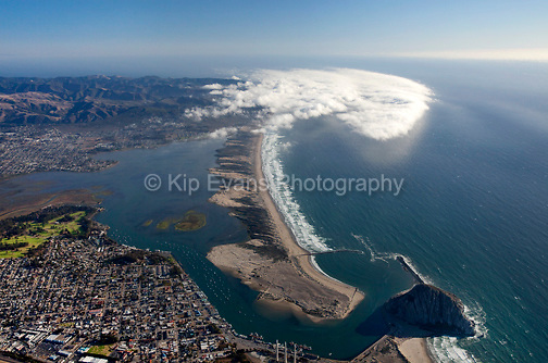 Aerial view of Morro Bay looking south/southwest.