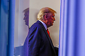 United States President Donald J. Trump attends a news conference at the White House in Washington D.C., U.S. on Monday, April 20, 2020. <br /> Credit: Tasos Katopodis / Pool via CNP