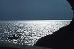 Fishing boat in backlight<br /> <br /> barca de pesca contraluz<br /> <br /> Fischerboot im Gegenlicht<br /> <br /> Original: 35 mm slide transparency