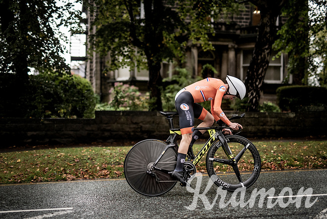 Annemiek van Vleuten (NED/Mitchelton-Scott)<br /> Elite Women Individual Time Trial<br /> <br /> 2019 Road World Championships Yorkshire (GBR)<br /> <br /> ©kramon