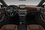 Stock photo of straight dashboard view of 2017 Mercedes Benz CLA-Class CLA250 4 Door Sedan Dashboard