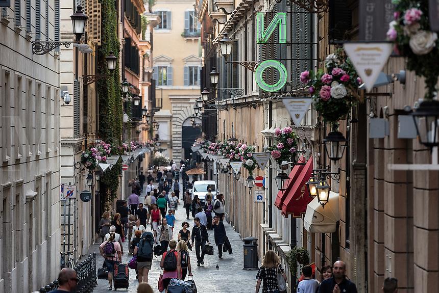 Via Borgognona, Rome Italy