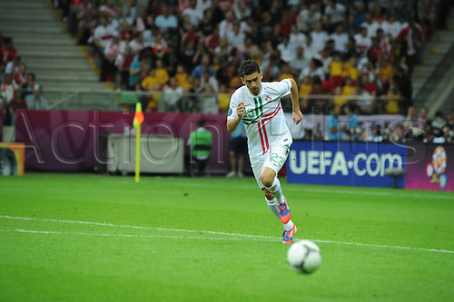 21.06.2012 , Gdansk, Poland. Hélder Postiga (Real Zaragoza) in action for Portugal during the European Championship Quarter Final game between Portugal and Czech Republic from the Stadium...
