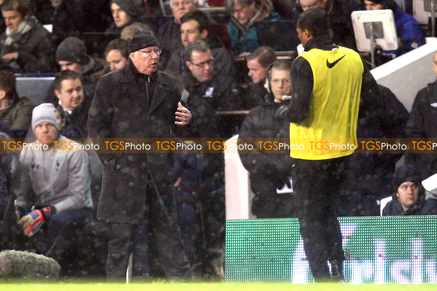 Manchester United manager Sir Alex Ferguson - Tottenham Hotspur vs Manchester United at the White Hart Lane Stadium - 20/01/13 - MANDATORY CREDIT: Dave Simpson/TGSPHOTO - Self billing applies where appropriate - 0845 094 6026 - contact@tgsphoto.co.uk - NO UNPAID USE.