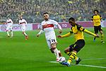 09.03.2019, Signal Iduna Park, Dortmund, GER, 1.FBL, Borussia Dortmund vs VfB Stuttgart, DFL REGULATIONS PROHIBIT ANY USE OF PHOTOGRAPHS AS IMAGE SEQUENCES AND/OR QUASI-VIDEO<br /> <br /> im Bild   picture shows:<br /> Abdou Diallo (Borussia Dortmund #4) kl&auml;rt vor Alexander Esswein (VfB Stuttgart #14), <br /> <br /> Foto &copy; nordphoto / Rauch