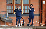 Inter Milan's spies get some top training tips as they check out Rangers skills at Murray Park