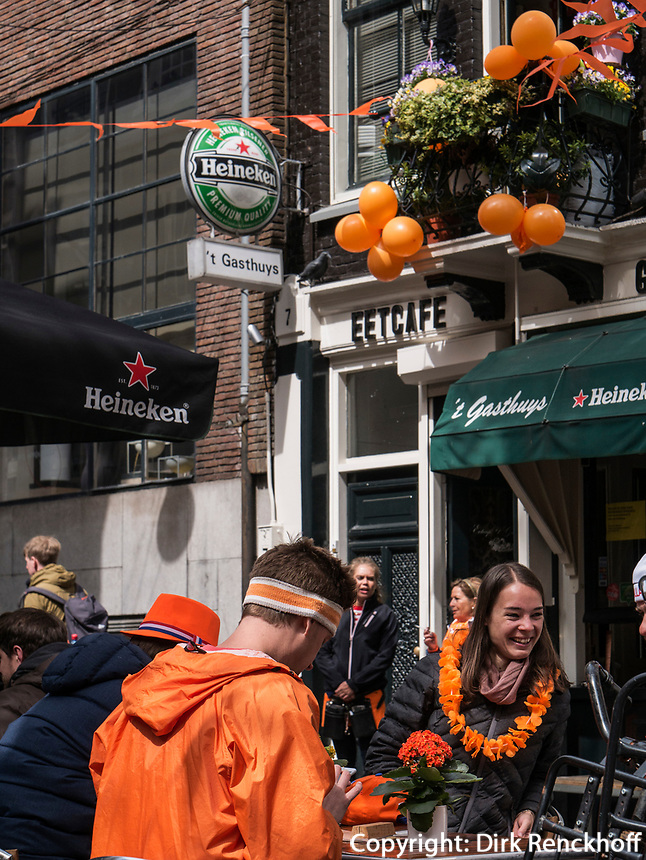 K&ouml;nigstag in Amsterdam, Provinz Nordholland, Niederlande<br /> Kings day in Amsterdam, Province North Holland, Netherlands