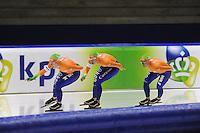 SCHAATSEN: HEERENVEEN: 29-09-2013, IJsstadion Thialf, Team Pursuit, ©foto Martin de Jong
