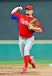 9 March 2011: Philadelphia Phillies' pitcher Joe Blanton on the mound during a Spring Training game against the Detroit Tigers at Joker Marchant Stadium in Lakeland, Florida. The Phillies defeated the Tigers 5-3 in Grapefruit League play. Mandatory Credit: Ed Wolfstein Photo