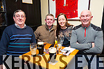 Francie Roche, Mike Conway, Katriona Roche and Charlie Allwell at the Greyhound Bar Golf Society Charity Quiz in aid of Recovery Haven on Thursday