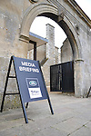 Entrance to the Media Briefing for the 2011 Land Rover Burghley Horse Trials