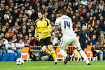 Borussia Dortmund Gonzalo Castro, Real Madrid's Carlos Henrique Casemiro during Champions League match between Real Madrid and Borussia Dortmund  at Santiago Bernabeu Stadium in Madrid , Spain. December 07, 2016. (ALTERPHOTOS/Rodrigo Jimenez)