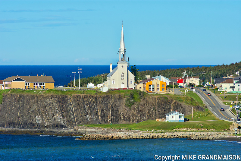 Coastal village of Grande Vallée with church<br />
