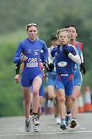 16 JUN 2007 - EDINBURGH, UK - Catriona Morrison (GBR) and Alexandra Louison (FRA) leading on the first run - EUROPEAN DUATHLON CHAMPIONSHIPS. (PHOTO (C) NIGEL FARROW)