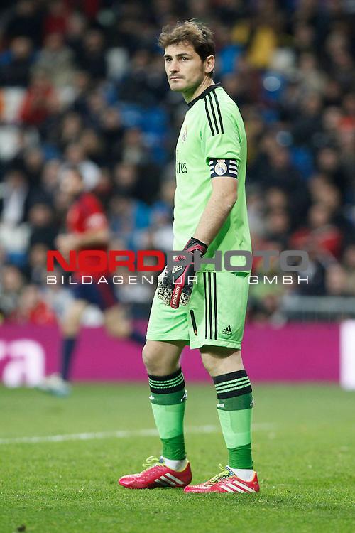 Real Madrid¬¥s goalkeeper Iker Casillas during King¬¥s Cup match in Santiago Bernabeu stadium in Madrid, Spain. January 09, 2014. Foto © nph / Victor Blanco)