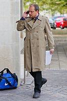 "Pictured: Jonathan Jennings arrives at Swansea Crown Court. Monday 21 May 2018<br /> Re: Jonathan Jennings has appeared at Swansea Crown Court charged with posting messages online to stir up racial hatred, including calls to kill Muslims and remove them from the West.<br /> Jennings, of Brynaman, south Wales faces 10 charges including threats against Muslims, Jews and members of the Labour Party, including its leader Jeremy Corbyn.<br /> Between March and August last year, Jennings is alleged to have used the hashtag #gasallmuslims, called for the extermination of Muslims and stated 'Hitler was born 100 years too soon'.<br /> One charge alleges that Jennings, 34, posted on GAB, which describes itself as the free speech social network, that ""should Jeremy #Corbyn be able to form a government in the near future, I'll be the first in line to #JoCox him and his associates"" - the threat alluding to MP Jo Cox who was murdered in 2016."
