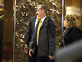 Corey Lewandowski arrives at Trump Tower in Manhattan, New York, New York, USA on Wednesday, December 7, 2016. <br /> Credit: John Taggart / Pool via CNP