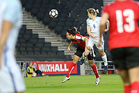 Ellen White of England Women (9) scores the opening goal of the game during the Women's Friendly match between England Women and Austria Women at stadium:mk, Milton Keynes, England on 10 April 2017. Photo by PRiME Media Images / David Horn.