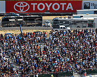 Jul 30, 2017; Sonoma, CA, USA; NHRA fans in the grandstands during the Sonoma Nationals at Sonoma Raceway. Mandatory Credit: Mark J. Rebilas-USA TODAY Sports