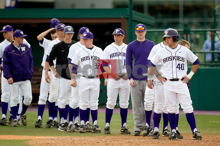 The University of Washington baseball team competes against Gonzaga University at Husky Ballpark  in Seattle, Wash. on Tuesday April 10, 2012.(Photo by Scott Eklund /Red Box Pictures) Joe Meggs