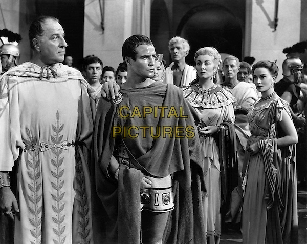 CAST - (L to R foreground) Louis Calhern, Marlon Brando, Greer Garson & Deborah Kerr.in Julius Caesar.*Filmstill - Editorial Use Only*.CAP/PLF.Supplied by Capital Pictures.