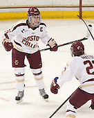 Meagan Mangene (BC - 24) - The Boston College Eagles defeated the Northeastern University Huskies 3-0 on Tuesday, February 11, 2014, to win the 2014 Beanpot championship at Kelley Rink in Conte Forum in Chestnut Hill, Massachusetts.