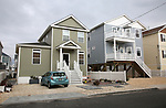 The new home (L) of Bill Mullen on Coolidge Avenue in Ortley Beach, New Jersey where Super Storm Sandy wiped out most of the block including his home, in 2012.  New homes have been constructed throughout Ortley Beach and the Jersey Shore. (Bill Denver For New York Daily News)