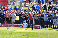 Ryan Moore (Team USA) on the 9th tee during the Friday afternoon Fourball at the Ryder Cup, Hazeltine national Golf Club, Chaska, Minnesota, USA.  30/09/2016<br /> Picture: Golffile | Fran Caffrey<br /> <br /> <br /> All photo usage must carry mandatory copyright credit (&copy; Golffile | Fran Caffrey)