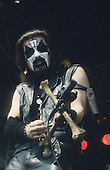MERCYFUL FATE<br />  - King Diamond - performing live at the Heavy Sound Festival at Poperinge Belgium - 10 Jun 1984.  Photo credit: Bertrand Alary/IconicPix ** UK ONLY **