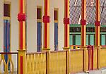 Colorful facades are a hallmark of downtoan Banda Neira.