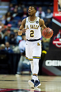 Washington, DC - MAR 7, 2018: La Salle Explorers guard Amar Stukes (2) brings the ball up court during game between La Salle and UMass in first round action of the Atlantic 10 Basketball Tournament at the Capital One Arena in Washington, DC. (Photo by Phil Peters/Media Images International)