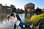 Cameron and Zach's San Francisco Engagement Shoot at Rincon Park and The Palace of Fine Arts.