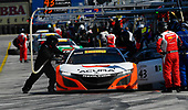 Pirelli World Challenge<br /> Intercontinental GT Challenge California 8 Hours<br /> Mazda Raceway Laguna Seca<br /> Sunday 15 October 2017<br /> Ryan Eversley, Tom Dyer, Dane Cameron, Acura NSX GT3, GT3 Overall pit stop<br /> World Copyright: Richard Dole<br /> LAT Images<br /> ref: Digital Image RD_PWCLS17_322