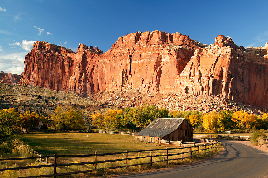 Historic barn in Fruita, Capital Reef National Park, Utah.