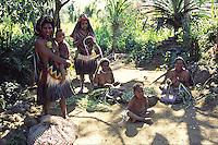 Oceania, Papua New Guinea, Pacific,Huli village women